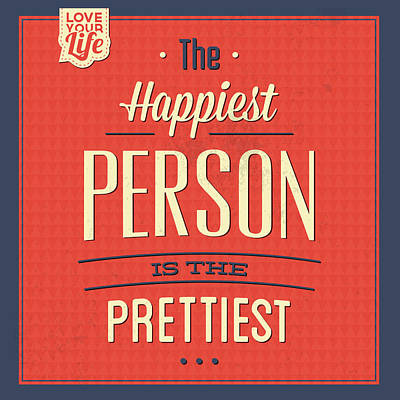 Happy Person Poster by Naxart Studio
