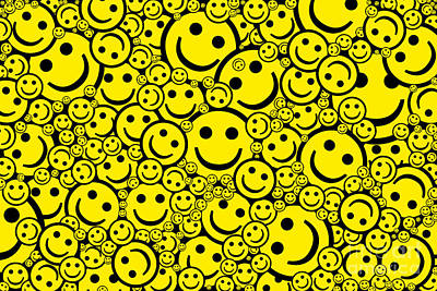 Happy Smiley Faces Poster by Tim Gainey