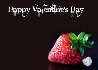 Happy Valentine's Day Card Poster by Lisa Knechtel