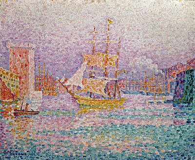 Harbour At Marseilles Poster by Paul Signac