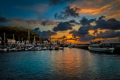 Harbour Sunrise Poster by Cliff Miller