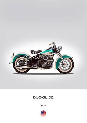 Harley-davidson Duo-glide Poster by Mark Rogan