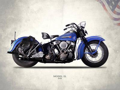 Harley-davidson El 1948 Poster by Mark Rogan