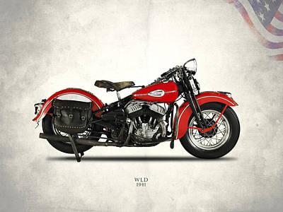 Harley-davidson Wld 1941 Poster by Mark Rogan
