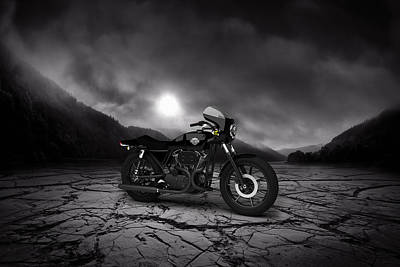 Harley Davidson Xlcr 1977 Mountains Poster by Aged Pixel