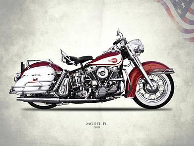 Harley Model Fl 1960 Poster by Mark Rogan