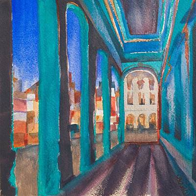 Havana Blue Arches 1 Poster by Lynne Bolwell
