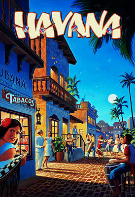 Havana Cuba Poster by Mark Rogan