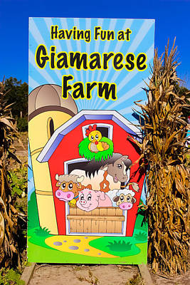 Having Fun On The Farm Poster by Colleen Kammerer