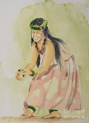 Hawaiian Dancer Poster by Gretchen Bjornson