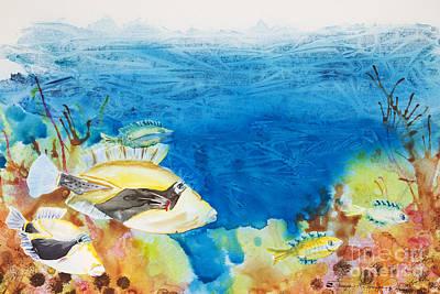 Hawaiian Triggerfish Poster by Tanya L Haynes - Printscapes