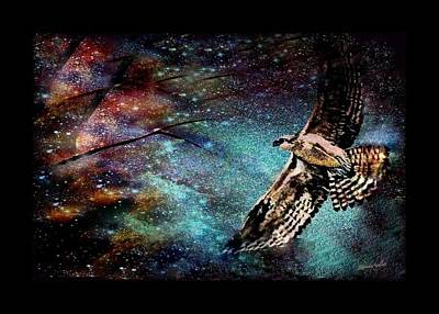 Hawk At Night Poster by YoMamaBird Rhonda