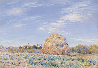 Haystack On The Banks Of The Loing Poster by Alfred Sisley