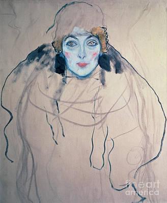 Head Of A Woman Poster by Gustav Klimt