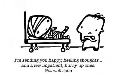 Healing Thoughts Poster by Leanne Wilkes