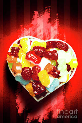 Heart Bowl Full Of Marmalades Poster by Jorgo Photography - Wall Art Gallery