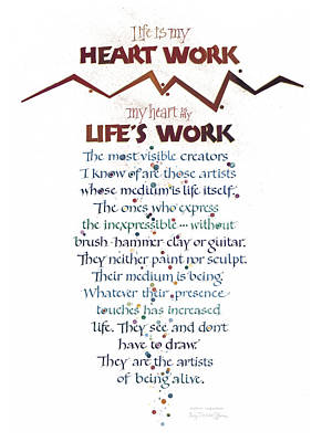 Heart Work Poster by Judy Dodds