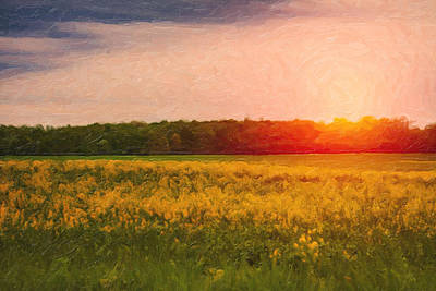Heartland Glow Poster by Tom Mc Nemar