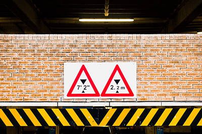 Height Warning Poster by Tom Gowanlock
