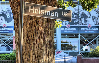Heisman Drive Poster by JC Findley