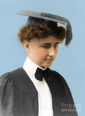 Helen Keller, American Author Poster by Science Source