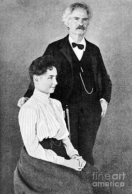 Helen Keller And Mark Twain, C. 1901 Poster by Wellcome Images
