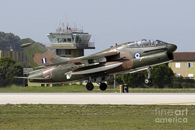 Hellenic Air Force Ta-7c Corsair Taking Poster by Daniele Faccioli