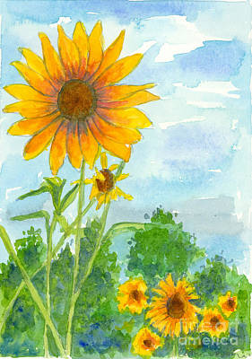Hello Sunshine Poster by Cathie Richardson