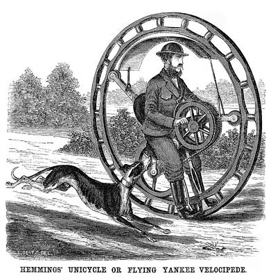 Hemmings Unicycle, 1869 Poster by Granger