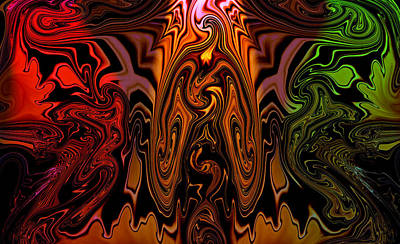 Hendrix Poster by Karen M Scovill