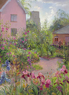 Herb Garden At Noon Poster by Timothy Easton