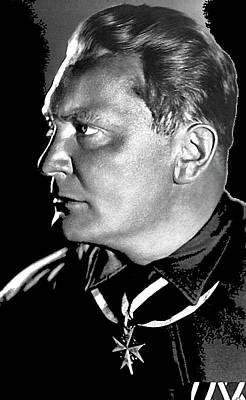 Herman Goering Portrait Wearing Blue Max Medal 1932 Bundesarchiv Color Added 2016 Poster by David Lee Guss