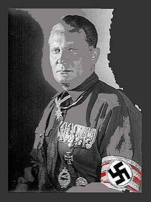 Herman Goering Portrait With His Medals Including The Blue Max Circa 1935-2016 Poster by David Lee Guss