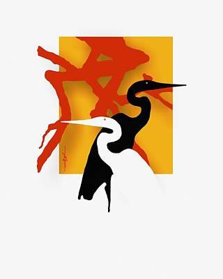 Herons  Poster by Bob Salo