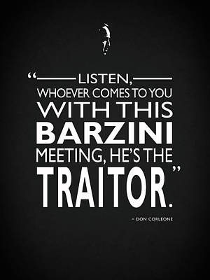 Hes The Traitor Poster by Mark Rogan