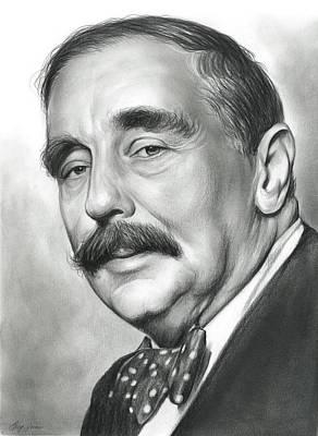 H.g. Wells Poster by Greg Joens