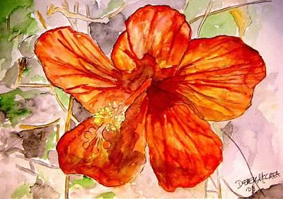 Hibiscus 2 Poster by Derek Mccrea
