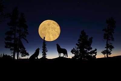 Hidden Wolves Poster by Shane Bechler