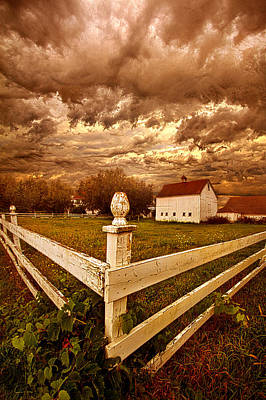 Hiding Like The Sun Behind The Clouds Poster by Phil Koch