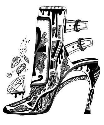 High Heels And Diamonds Poster by Kenal Louis