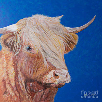 Highland Cow Poster by Melissa Symons