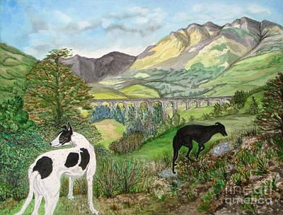 Highland Hounds Poster by Yvonne Johnstone