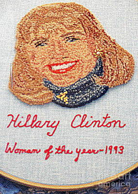 Hillary Clinton Woman Of The Year Poster by Randall Weidner