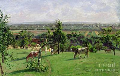 Hillside Of Vesinet Poster by Camille Pissarro