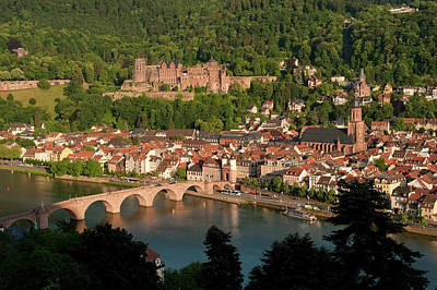 Hilltop View - Heidelberg Castle Poster by Greg Dale