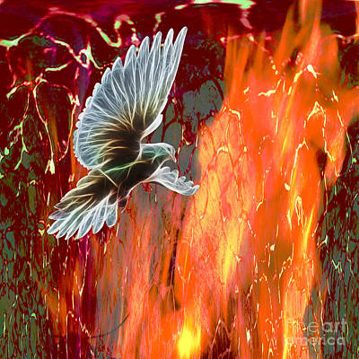 His Holy Fire Poster by Beverly Guilliams