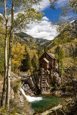 Historic Crystal Mill Marble Colorado Poster by Teri Virbickis