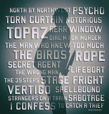 Hitchcock Poster by Russell Pierce