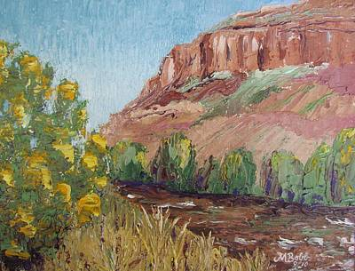 Hogback In Early Fall At Watson Lake Poster by Margaret Bobb