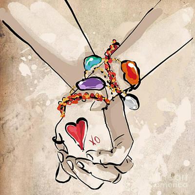 Holding Hands Poster by Jodi Pedri